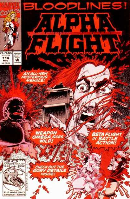 Alpha Flight 114 - Marvel - Marvel Comics - Bloodlines - Beta Flight - Omega Red