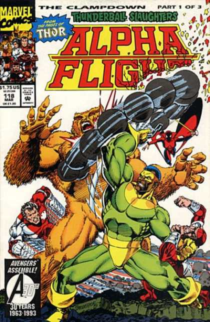 Alpha Flight 118 - Monsters - Muscles - Weapon - Thor - Thunderball Slaughters