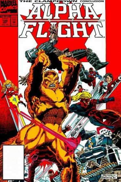 Alpha Flight 120 - Soldiers - War - Fire - Robots - Superheroes