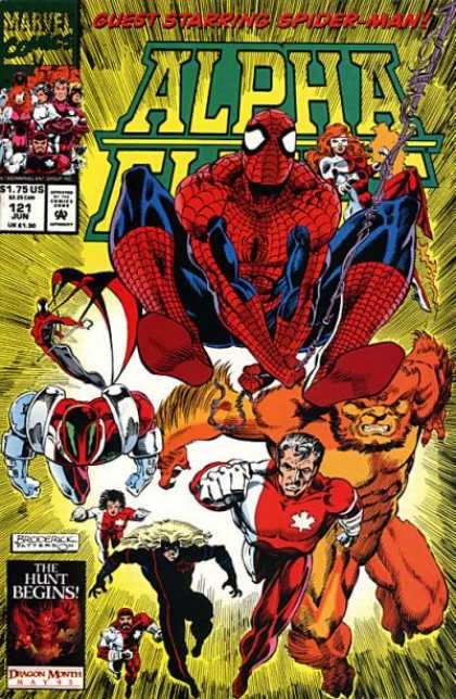 Alpha Flight 121 - Spiderman - The Hunt Begins - Marvel Heroes - Cab Web - Orange Monster