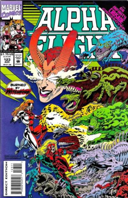 Alpha Flight 123 - Marvel Comics - Witchfire - Horn - Monster - Mutant Animals