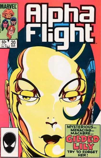 Alpha Flight 20 - Marvel - Alpha Flight - Gilded Lily - Mysterious Menacing - Try To For Get To Her - Jaime Mendoza, John Byrne
