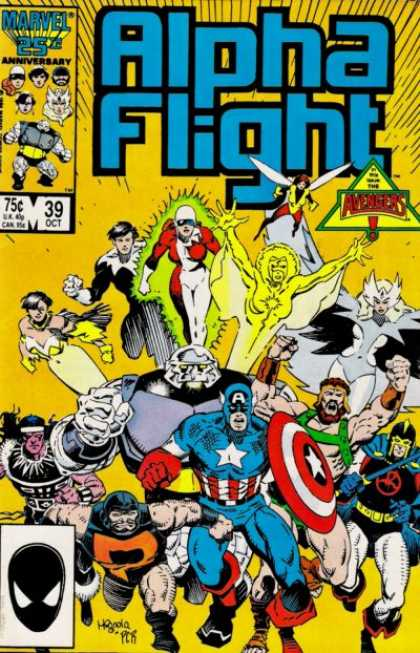 Alpha Flight 39 - Army - Superfriends - Captain America - Flying - Shield - Mike Mignola
