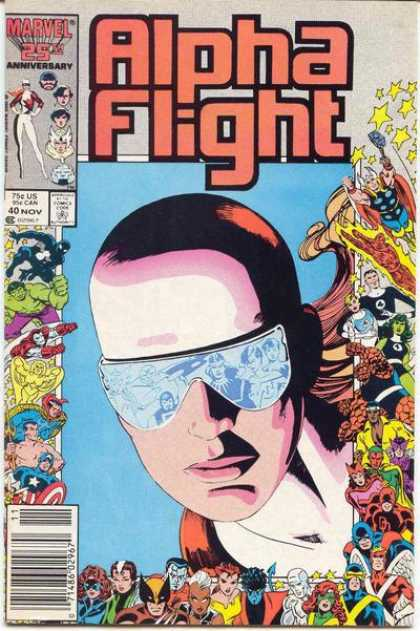 Alpha Flight 40 - Marvel - One Smart Guy - Spectacles - Superman - Girls - Mike Mignola