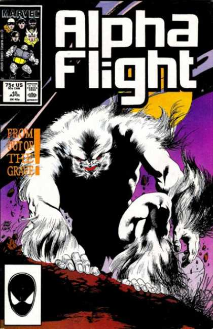 Alpha Flight 45 - Marvel - Approved By The Comics Code Authority - Mask - Blood - From Out Of The Grave - Kevin Nowlan