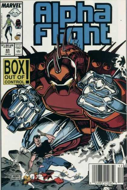 Alpha Flight 65 - Marvel Comics - Box Out Of Control - Blue Pants - Black Shirt - Brown And Silver Robot - Jim Lee, Marc Siry
