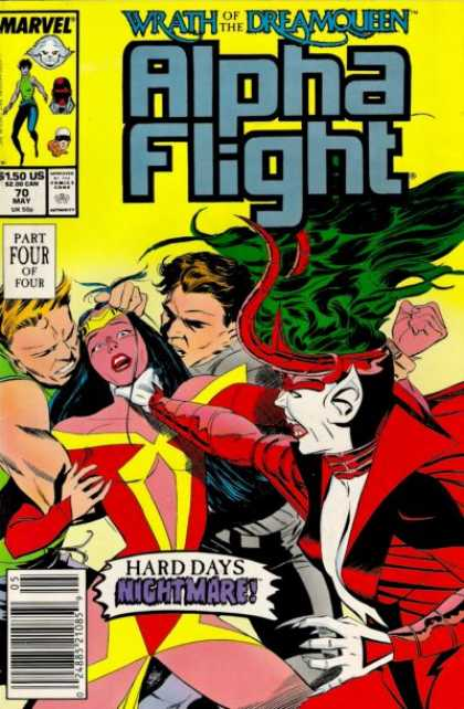 Alpha Flight 70 - Green Hair - Strangling - Nightmare - Claws - Pointed Ears