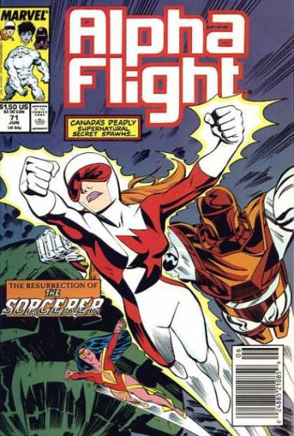 Alpha Flight 71 - The Resurrection Of The Sorcerer - Wonder Woman - Attempted Capture In Flight - Cave - Marvel