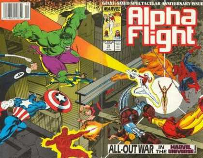 Alpha Flight 75 - Incredible Hulk - Spiderman - Wolverine - Human Torch - Captian America - Mike Manley