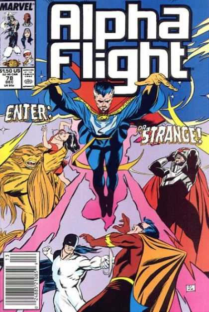Alpha Flight 78 - Dr Strange - Sasquatch - Spell Casting - Stabbed With A Sword - Grabbing A Woman - Mike Manley