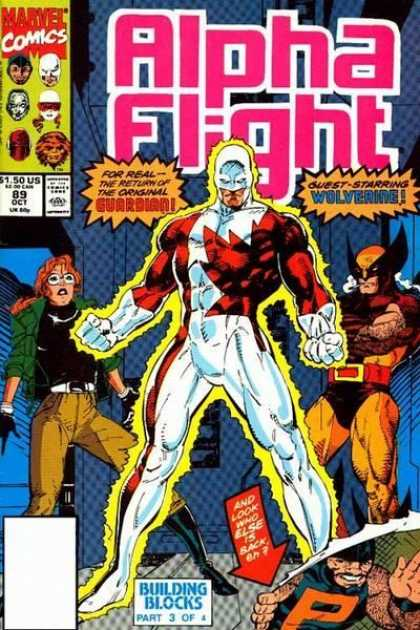 Alpha Flight 89 - Marvel Comics - Superhero - Approved By Comics Code - Guardian - Wolverine - Jim Lee