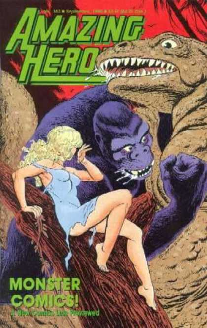 Amazing Heroes 183 - Monster - Comics - Gorilla - Woman - Dinosaur