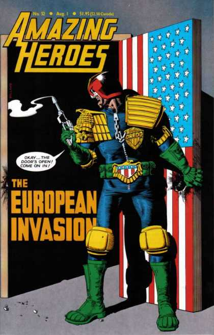 Amazing Heroes 52 - Judge - Dredd - Smoking Gun - European - Invasion - Brian Bolland