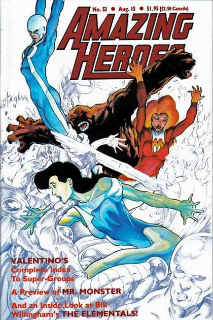 Amazing Heroes 53 - Valentinos Complete Index - No 53 - Bill Willigham - The Elementals - Mr Monster - Bill Willingham