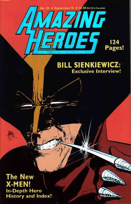 Amazing Heroes 55 - No 55 - 55 - 124 Pages - September 15 - Bill Sienkiewicz - Bill Sienkiewicz