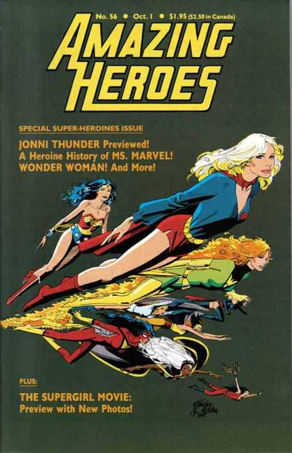 Amazing Heroes 56 - Wonder Woman - Number 56 - October 1 - Jonni Thunder - Costumes - Kevin Nowlan