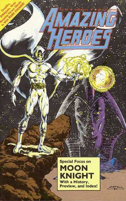 Amazing Heroes 64 - Moon - Knight - History - Hark Evanier - Index