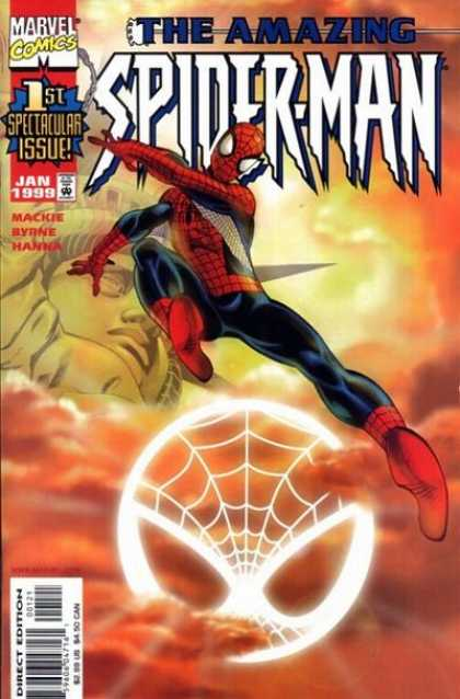 Amazing Spider-Man (1999) 1 - Web - Costume - Marvel - 1st Spectacular Issue - Clouds - John Byrne