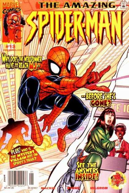 Amazing Spider-Man (1999) 13 - Spiderman - Webspinner - Mystery William - Webs - Chase - John Byrne