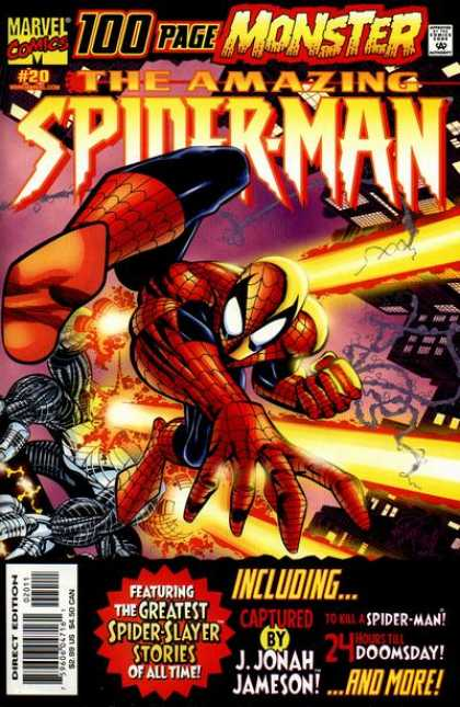 Amazing Spider-Man (1999) 20 - Marvel Comics - Monster - Approved By Comics Code - Superhuman - Direct Edition - Erik Larsen