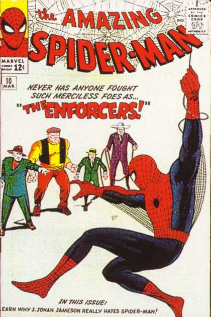 Amazing Spider-Man 10 - Enforcers - Marvel - The Enforcers - Never Has Anyone Fought - Merciless Foes - Jack Kirby