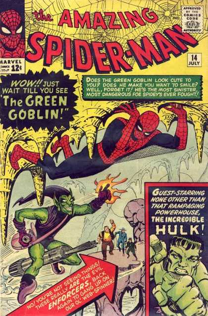 Amazing Spider-Man 14 - Green Goblin - Hulk - Cave - Spidey - Enforcers