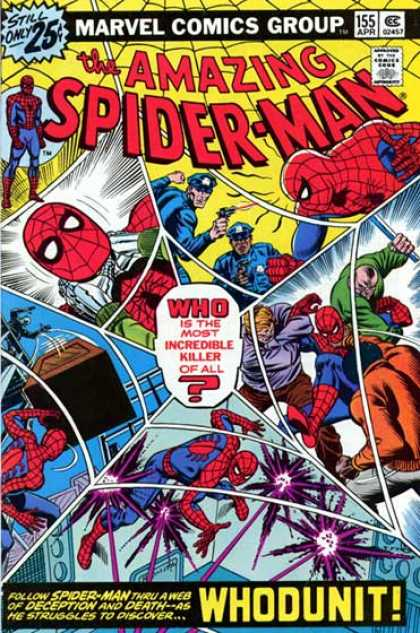 Amazing Spider-Man 155 - Cops - Crate - Police - Spider Man Super Hero Of America - Spider Action