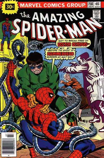 Amazing Spider-Man 158 - Hammerhead - Doctor Octopus - Aunt May - Piping - Men