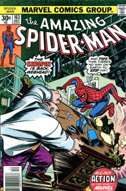 Amazing Spider-Man 163 - Kingpin - Action - Table - Ashtray - Marvel Comics Group - Dave Cockrum