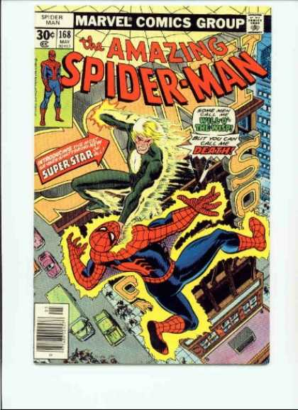 Amazing Spider-Man 168 - Spiderman - Electricity - Superstar - Death - Will O The Wisp