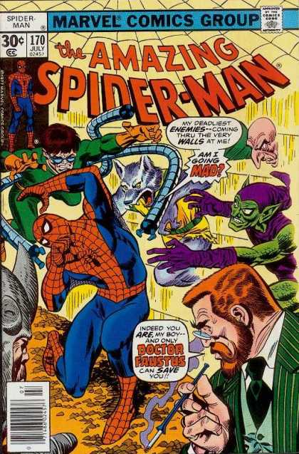 Amazing Spider-Man 170 - Green Goblin - Spiderman - Doctor Faustus - Rhino - Doctor Octopus - Ross Andru