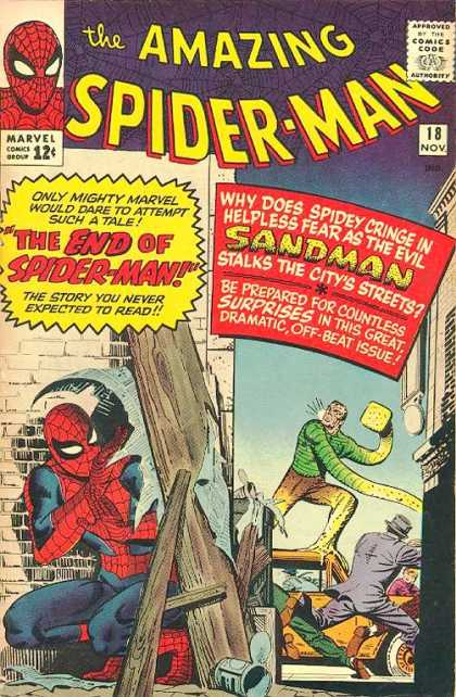 Amazing Spider-Man 18 - Sandman - Spiderman - Car - Fear - Cringing