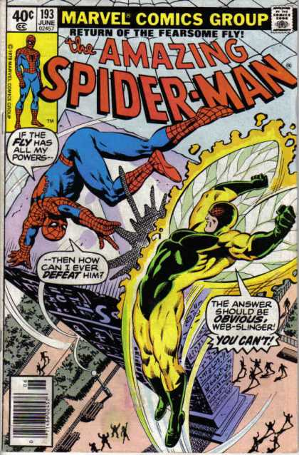 Amazing Spider-Man 193 - Fearsome Fly - Fly - Web - Web-slinger - Marvel Comics Group - Bob McLeod