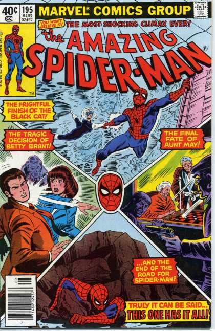Amazing Spider-Man 195 - Aunt May - Black Cat - Betty Brant - Spiderman - Mary Jane