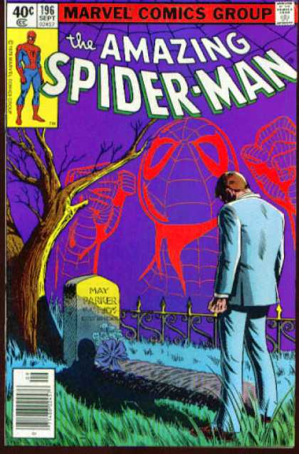 Amazing Spider-Man 196 - Grave - Tree - Peter Parker - Death - May Parker