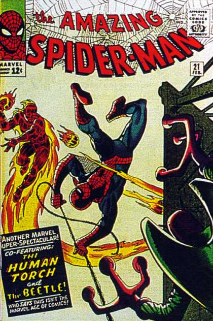 Amazing Spider-Man 21 - Human Torch - Beetle - Spiderman