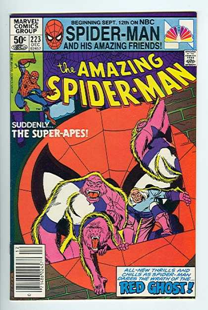 Amazing Spider-Man 223 - Super-apes - Red Ghost - Nbc - Marvel Comics Group - Amaizing Friends - Walter Simonson