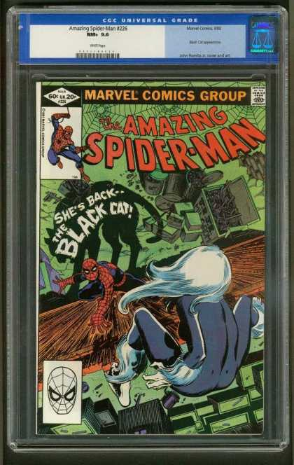 Amazing Spider-Man 226 - Black Cat - Marvel Comics Group - Approved By The Comics Code Authority - Mask - The Black Cat - John Romita