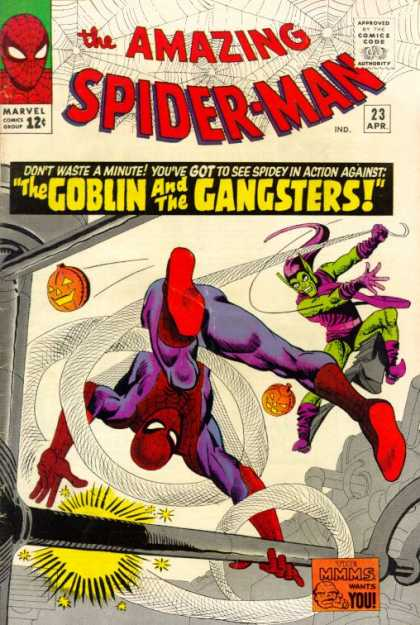 Amazing Spider-Man 23 - Marvel - The Goblin And The Gangsters - Pumpkin - Mmms Wants You - The Goblin