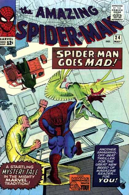 Amazing Spider-Man 24 - Mad - Vulture - Sandman - Spiderweb - Wings