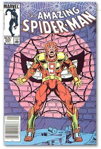 Amazing Spider-Man 264 - Spider Web - Mask - Trapped - Brick Wall - Corner