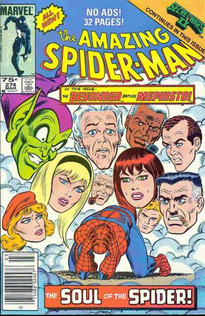 Amazing Spider-Man 274 - Mary Jane - Clouds - Aunt May - Green Goblin - Jameson