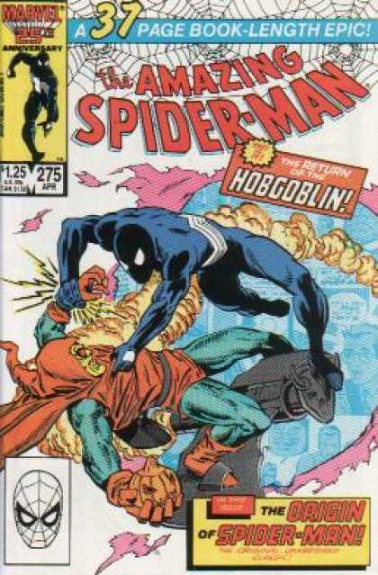 Amazing Spider-Man 275 - Hobgoblin - Fight - The Origin Of Spider-man - 37 Page Book-length Epic - Smoke