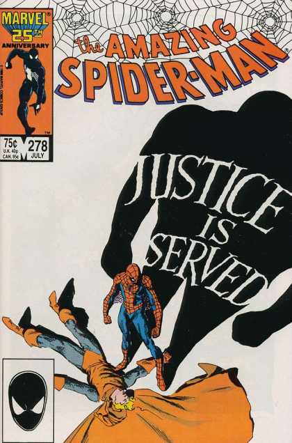Amazing Spider-Man 278 - Shadow - Web - Justice - Justice Is Served - Cape