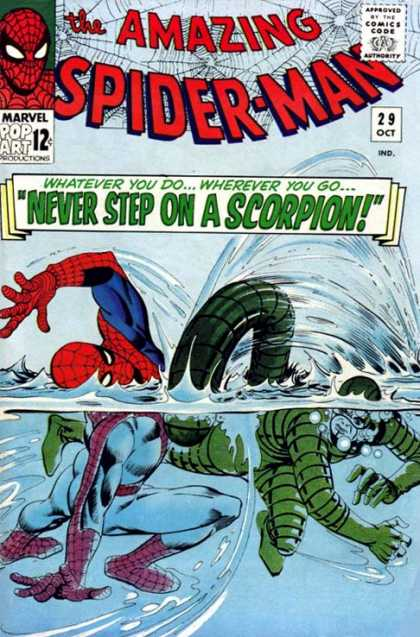 Amazing Spider-Man 29 - Scorpion - Water - Spiderman - Battle - Spash