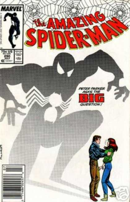 Amazing Spider-Man 290 - Mary Jane - Peter Parker - Shadow - Proposal - Black Uniform