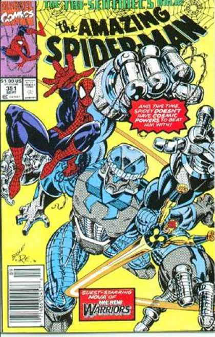 Amazing Spider-Man 351 - Spiderman - Web - Robot - Mark Bagley
