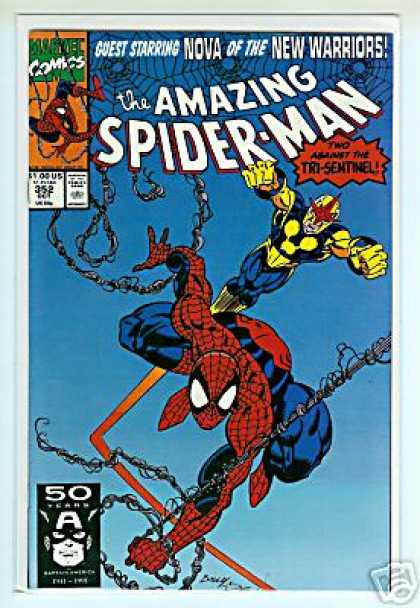 Amazing Spider-Man 352 - Tri-sentinel - Two - Against - Guest - Starring - Mark Bagley