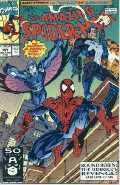 Amazing Spider-Man 353 - Punisher - Darkhawk - Spiderman - Spider-man - Side-kicks Revenge - Mark Bagley