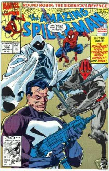 Amazing Spider-Man 355 - Punisher - Moon Knight - Round Robin - Night Thrasher - Sidekick - Mark Bagley